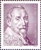 Король Густав II Адольф, 1м; 2.50 Кр