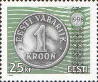 Стандарт, Эстонская монета, 1м; 25 Кр