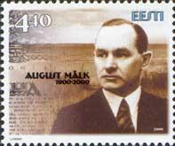 Писатель Август Малк, 1м; 4.40 Кр