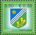 Стандарт, Герб региона Тарту, самоклейка, 1м; 5.50 Кр