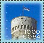 Стандарт, Национальный Флаг Эстонии, самоклейкa, 1м; 10.0 Кр