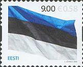 125 лет Национальному Флагу Эстонии, самоклейка, 1м; 9.0 Кр