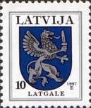 Стандарт, герб Латгале, 1м; 10c