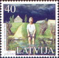 Латышская литература, Я.Яунсудрабиньш, 1м; 40с
