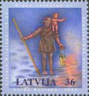 Большой Кристофер - символ Риги, 1м; 36с
