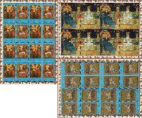 2000-летие Христианства, М/Л из 8м и 8 купонов + 2 М/Л из 16м; 5.0 руб х 8, 0.90, 1.50 руб х 16