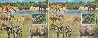 Африканская фауна, 2 блока; 44.0 руб х 2
