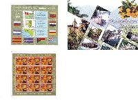Независимости Республики Абхазия, буклет из блока из 3м и М/Л из 12м; 50.0 руб х 15