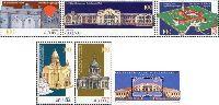 Памятники архитектуры, 5м + блок; 100 Драм х 5, 500 Драм
