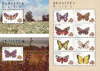 Фауна, Бабочки, 2 блока + М/Л из 8м; 1000 руб х 2, 300 руб х 8