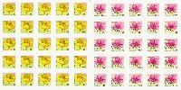 Стандарты, Цветы, самоклейки, 2 М/Л из 25 серий