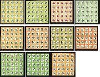 Стандарты, Флора, самоклейки, 11 М/Л из 25 серий
