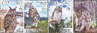 Фауна, Совы, 4м; 500, 1000 руб x 2