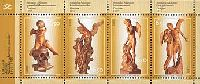 Cкульптуры Амандус Адамсона, блок из 4м; 6.50 Кр x 4