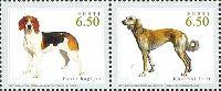 Совместный выпуск Эстония-Казахстан, Фауна, Собаки, 2м в сцепке; 6.50 Кр x 2