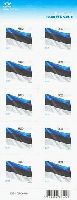 125 лет Национальному Флагу Эстонии, самоклейка, М/Л из 10м; 9.0 Кр x 10