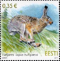 Фауна, Заяц, 1м; 0.35 Евро