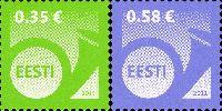 Стандарты, Почтовый рожок, самоклейки, 2м; 0.35, 0.58 Евро