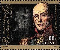 Генерал-фельдмаршал М.Б. Барклай де Толли, 1м; 1.0 Евро
