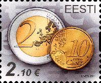 Стандарт, Монеты, самоклейка, 1м; 2.10 Евро