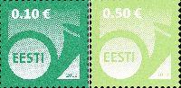 Стандарты, Почтовый рожок, самоклейки, 2м; 0.10, 0.50 Евро