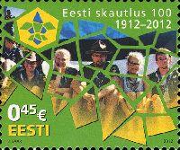 Столетие скаутов Эстонии, 1м; 0.45 Евро