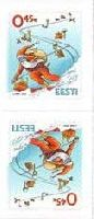 Рождество'12, самоклейки, тет-беш, 2м; 0.45 Евро х 2
