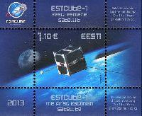 Первый спутник Эстонии, блок; 1.10 Евро