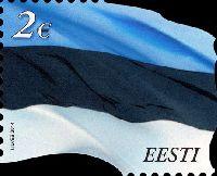 Стандарт, Национальный Флаг Эстонии, самоклейка, 1м; 2.0 Евро