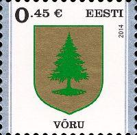 Стандарт, Герб города Выру, самоклейка, 1м; 0.45 Евро