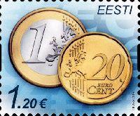 Стандарт, Монета, самоклейка, 1м; 1.20 Евро