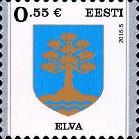 Стандарт, Герб города Элва, самоклейка, 1м; 0.55 Евро