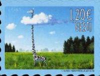 Виды Эстонии, Жираф, самоклейка, 1м; 1.20 Евро