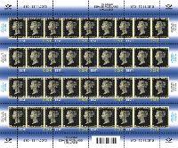 175 лет первой почтовой марки, М/Л из 16м; 0.55 Евро x 16