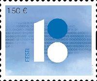 100 лет Эстонской Республики, самоклейка, 1м; 1.50 Евро