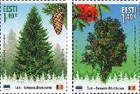 Совместный выпуск Эстония-Румыния, Лес, 2м; 1.40 Евро х 2