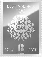 100 лет Эстонской Республики, 1м; 10.0 Евро