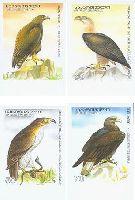 Фауна, Птицы, 4м беззубцовые; 10, 30, 50, 70т