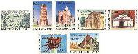 Памятники истории и культуры, беззубцовые, 7м; 0.10, 0.50, 1.0 + 0.25, 2.0 + 0.50, 3.0, 5.0 + 0.50, 9.0 руб