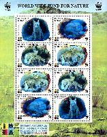 WWF, Лисицы, Фил. выставка IBRA, с голограммами, М/Л из 2 серий