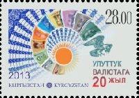 20 лет национальной валюте Кыргызстана, 1м; 28.0 С