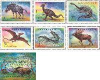 Фауна, Доисторические животные, 6м + блок; 1, 1.2, 2, 3, 5, 7, 10 T