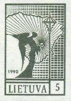 Стандартный выпуск, Ангел, ПРОБА, оливковая, 1м; 5 коп