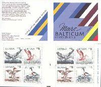 Совместный выпуск Литва-Латвия-Эстония-Швеция, Птицы Балтики, Авиапочта, буклет из 2 серий
