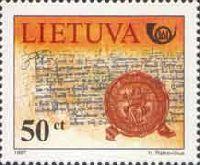 История литовской почты, 1м; 50ц