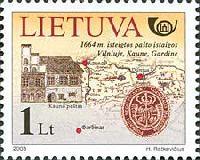 История литовской почты, 1м; 1.0 Лит