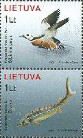 Красная книга, Птица и Рыба, 2м в сцепке; 1.0 Лит x 2