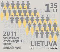 Перепись населения Литвы, 1м; 1.35 Лит