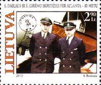80 лет трансатлантического перелета С. Дарюса и С. Гиренаса, 1м; 2.90 Лита