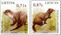 Красная книга, Выдра и Норка, 2м; 0.71, 0.87 Евро